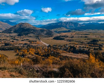View over Arrowtown in New Zealand