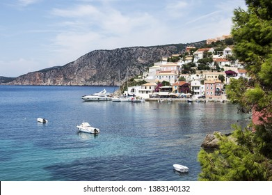 View over Assos village in Kefalonia, Greece