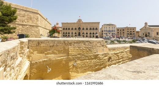 View over Auberge de Castille Valletta Malta Summer 2018 horizontal photography