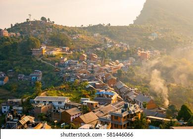 View over Bandipur Bazaar, Nepal