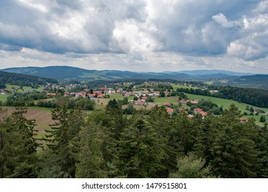 View over the Bavarian Forest in Lower Bavaria, Bavaria, Germany
