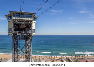 View over the beach of Barcelona, Spain