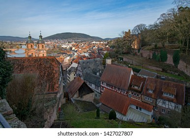 View over the beautiful old town of Miltenberg in Lower Franconia, Bavaria, Germany