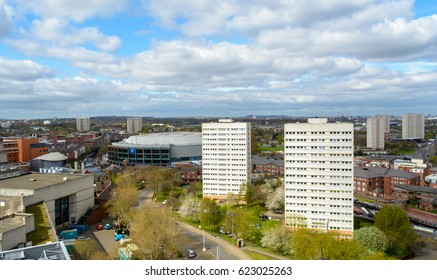 View Over Birmingham with Tower Blocks and Barclaycard Arena Cloudscape Cityscape Photography