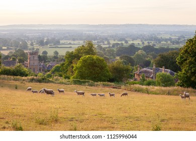 View over Bourton on the Hill, Cotswolds, Gloucestershire, England