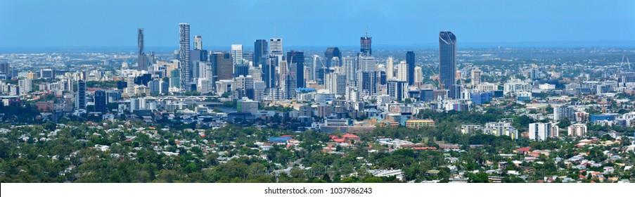 View over Brisbane in Queensland, Australia.