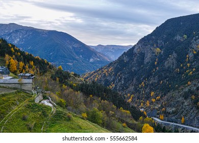 View over Canillo, in Andorra