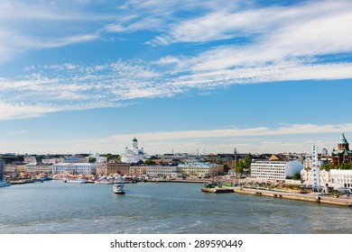 View over central Helsinki, Finland, Europe
