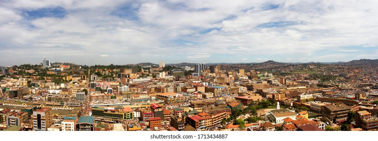 A view over Central Kampala from the vantage point of the minaret of the Old Kampala Mosque, one of the highest points in Kampala