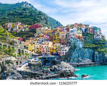 View over Cinque Terre in Italy