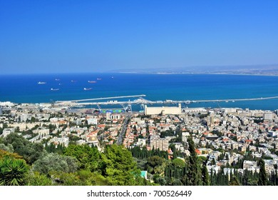View over the city and port, Haifa, Israel