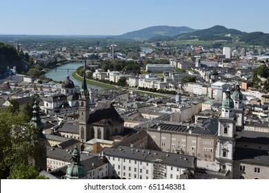 View over city of Salzburg, Austria