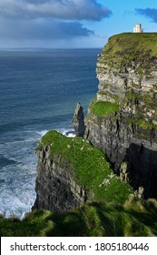 View over cliffs of Moher