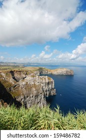 view over the coast of the Azores, Portugal