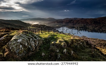 View over Coniston Water in the Lake District