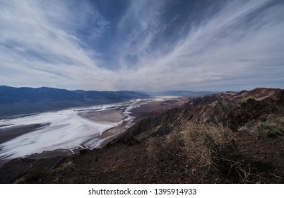 View over the Death Valley to the Panamint Mountains from Dantes View
