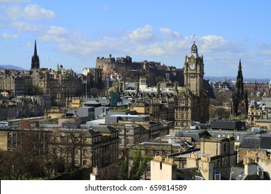 A view over Edinburgh from Calton Hill, Scotland