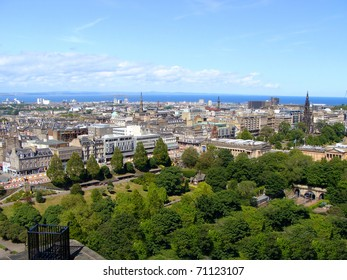 A view over Edinburgh's New Town from the castle