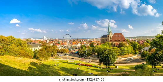 View over Erfurt and the Cathedral, Germany