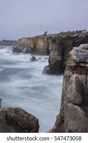 View over the famous mouth of hell, cascais