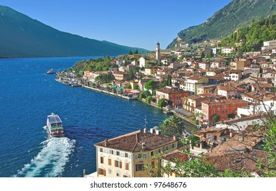 View over the famous Village of Limone sul Garda,Italy