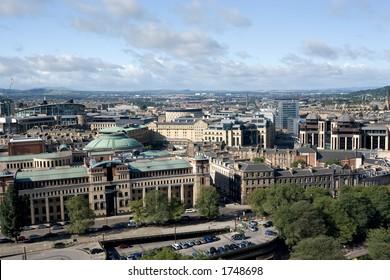 A view over the financial district of Edinburgh, Scotland