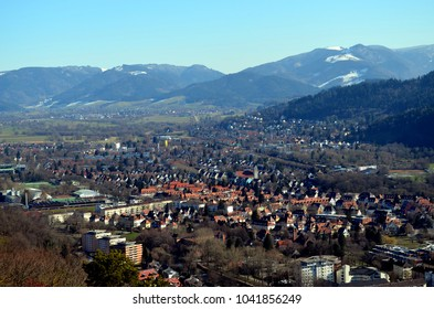 View over Freiburg and the Black Forest
