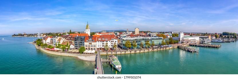 View over Friedrichshafen, Lake Constance, Germany