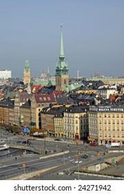 View over Gamla Stan in Stockholm, Sweden