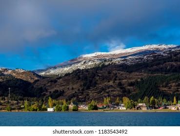 View over General Carrera Lake towards Puerto Rio Tranquilo, Aysen Region, Patagonia, Chile