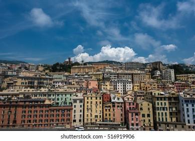 View over Genova