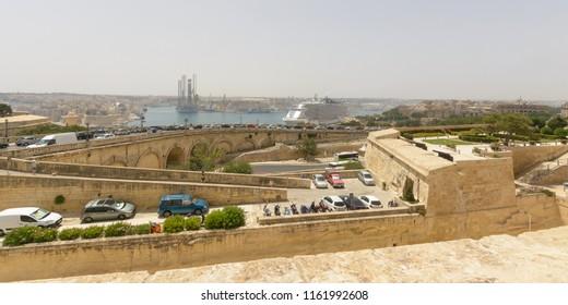 View over The Grand Harbor Valletta Malta Summer 2018 horizontal photography