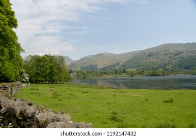 View over Grasmere to Helvellyn and Fairfield ranges, Lake District
