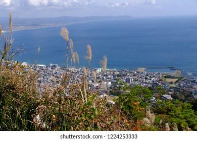 View over Hakodate from Mount Hakodate, Hokkaido, Japan, Asia