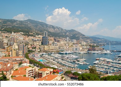 View over the harbor of Monaco