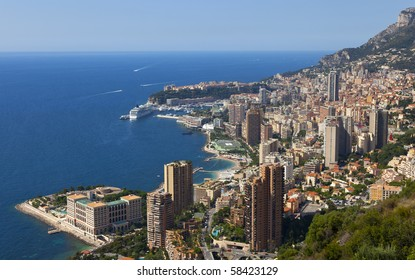 a view over the harbour of monaco