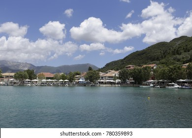 View over the harbour of Vasiliki, Lefkada, Greece