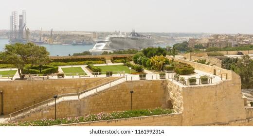 View over Herbert Ganado Gardens Valletta Malta Summer 2018 horizontal photography