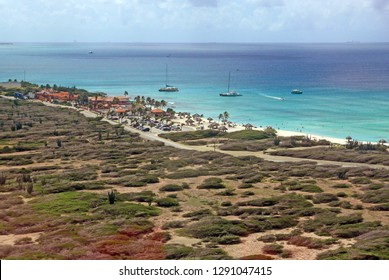 View over the island of Aruba from the lighthouse