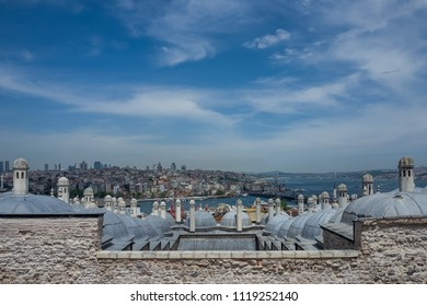 View over Istanbul from the Fatih Mosque