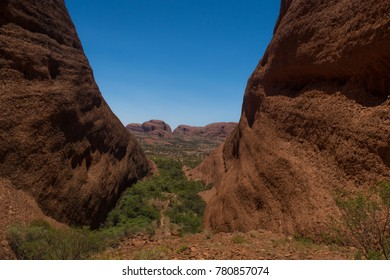 View over Kata Tjuta National Park in Australia