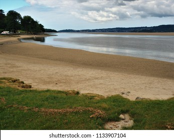 View over the Kent River estuary to Grange over Sands, Cumbria, from Arnside at mid tide