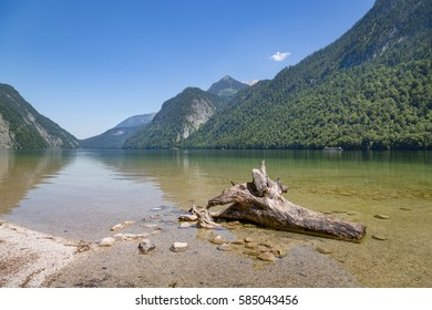 View over Koenigssee near Berchtesgaden, Bavaria, Germany