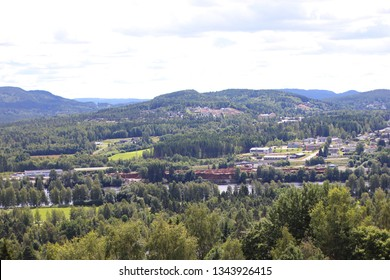 View over Kongsvinger, Norway from the fortress.