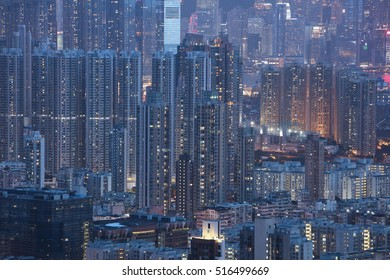 View over Kowloon in Hong Kong from Eagle's Nest