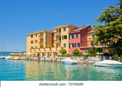 View Over Lake Garda and Sirmione town in Italy
