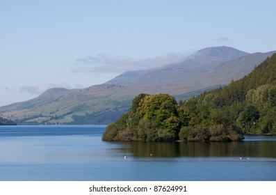 View over Loch Tay to Ben Lawers