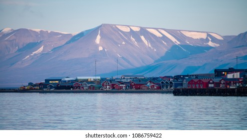 View over Longyearbyen from a ship