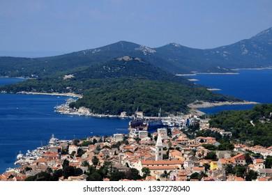 view over Mali Losinj, island Losinj, Croatia