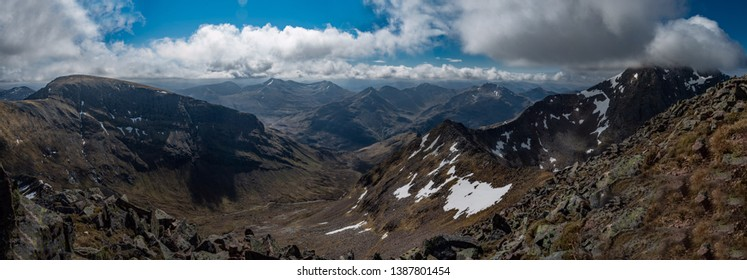 View over the mamores in scotland